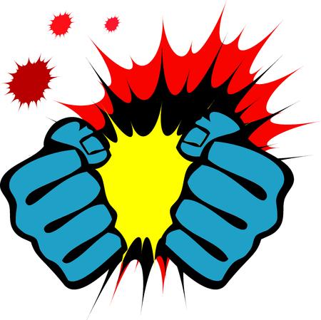 Martial art colored simbol, logo. Karate creative design emblem. Logo
