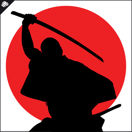 Martial art colored simbol, logo. Karate creative design emblem. Standard-Bild - 114170382