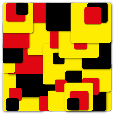 Retro Squares and Geometric Colored Shadow Shapes Background.