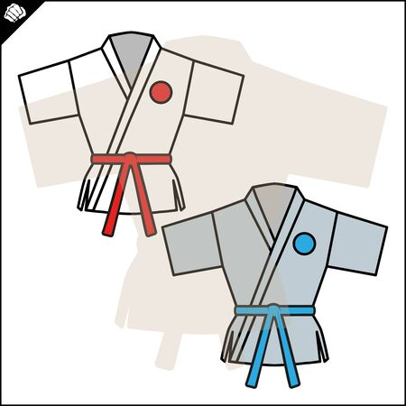 Karate emblem. Martial art creative colored symbol design.