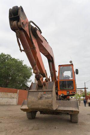 The heavy building bulldozer Stok Fotoğraf