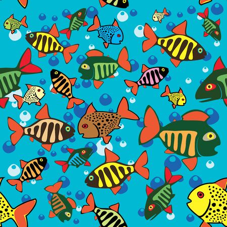 Fishing Fish Beautiful summer hobby Vector cartoon poster EPS