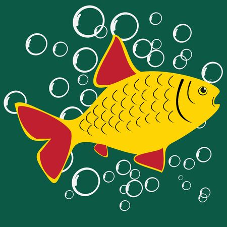Beautiful Fish. Pattern Fishing. Beautiful summer hobby. Vector poster. 스톡 콘텐츠 - 130661834