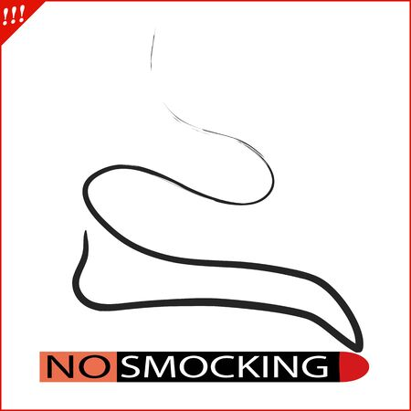 No smoking red circle stop sign Stock Illustratie