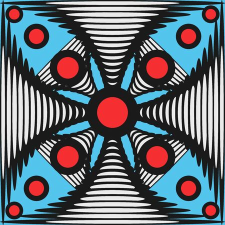Retro Squares and Geometric Colored Shadow Shapes Background. Vector, EPS. Ilustración de vector