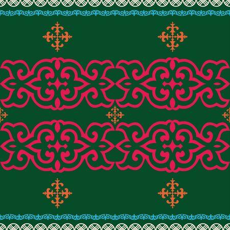 Kazakh nomadic tribes on background