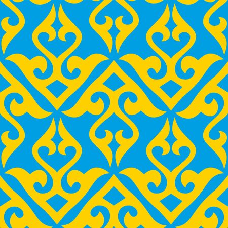 Ethnic patterns. Traditions of nomads, Kazakh steppes, Asian Mongolian Caucasus