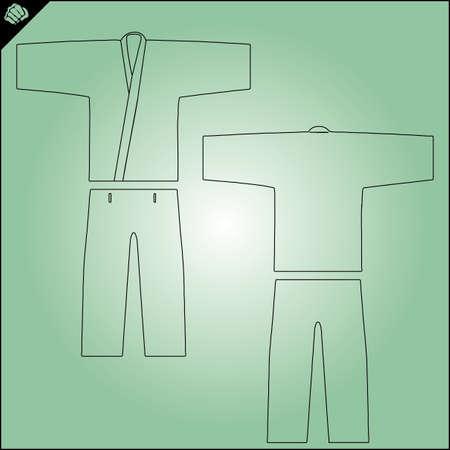 Martial arts karate, judo, jiu-jitsu dogi,kimono