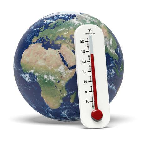 Global warming illustration 3D rendering Stock Photo