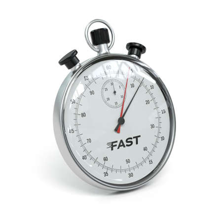 stopwatch on white background - 3D rendering