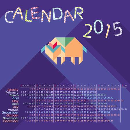 hollyday: calendar 2015 flat sheep