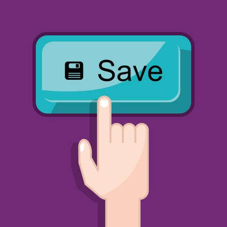 press button: press button save