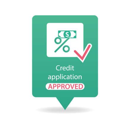 approved: credit application approved Illustration