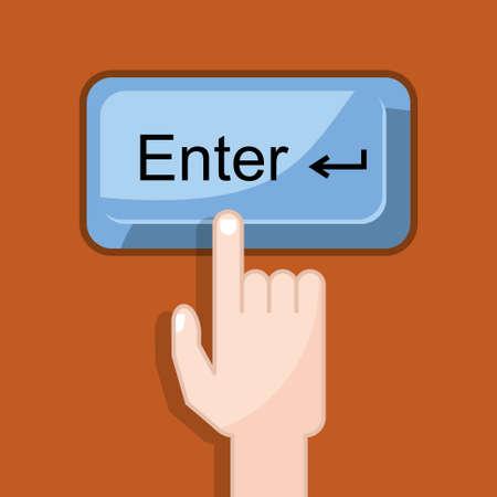 press button: press button enter