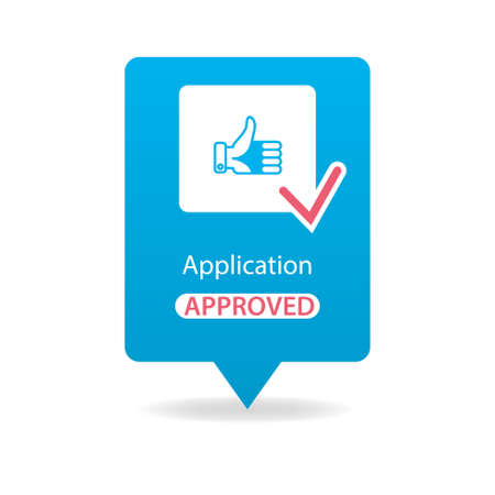 approved: application approved Illustration
