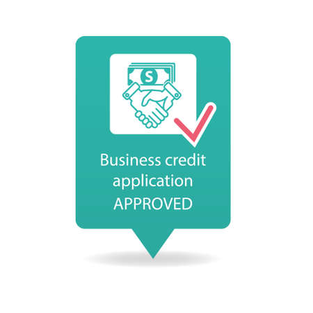 business credit application: business credit application approved Illustration