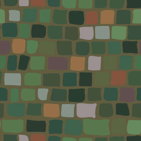 brick background: brick background in green color. seamless texture Vettoriali