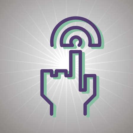 sensor: sensor touch icon