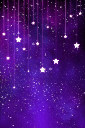 winter party: Purple Stars Background Stock Photo