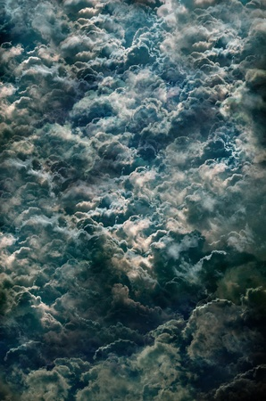 utopia: background beautiful black climate clouds Stock Photo