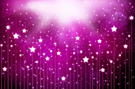 purple stars: abstract Stock Photo