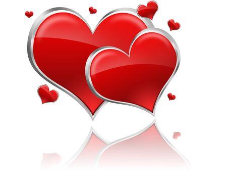 heart of stone:  card Stock Photo