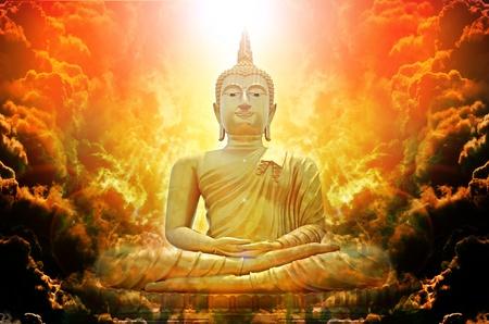 buddha statue: background Stock Photo
