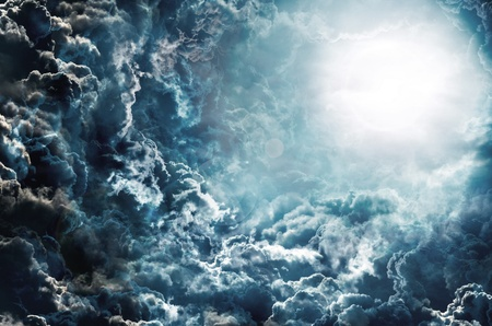 storm clouds: background Stock Photo