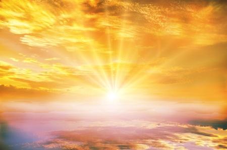 sol radiante: fondo
