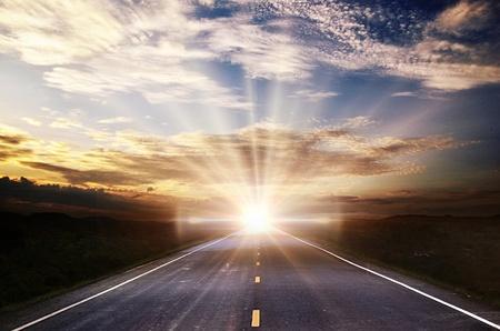 sun down: background Stock Photo