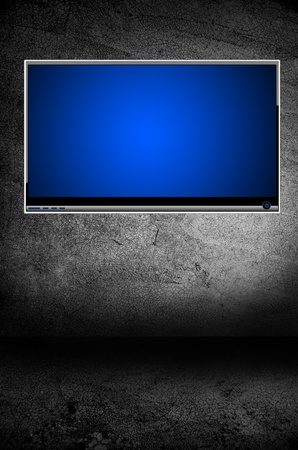 flatscreen: background Stock Photo