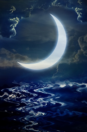 star and crescent: background Stock Photo