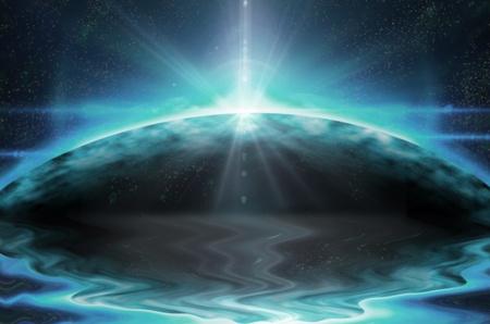 spiritual energy: background Stock Photo