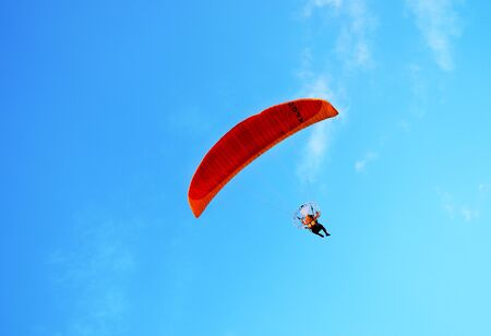 paraglide: background Stock Photo