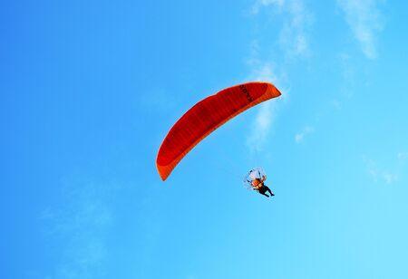 skydive: background Stock Photo