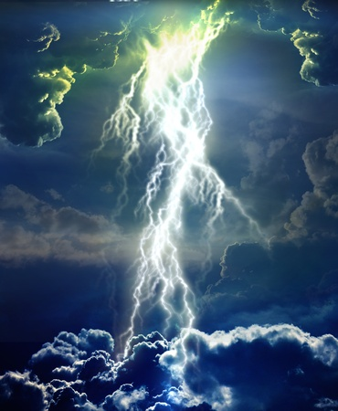 lightnings: background Stock Photo