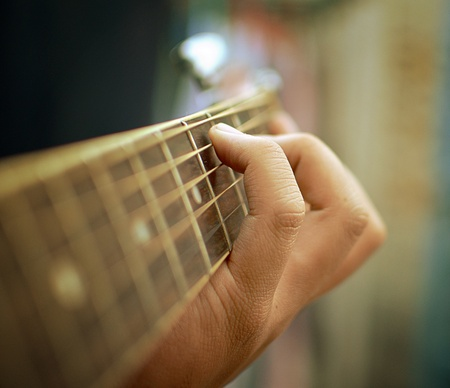 acoustic guitar: background Stock Photo