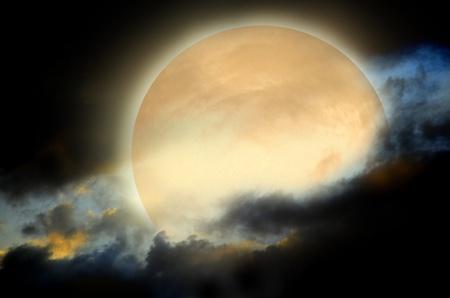 noche y luna: fondo