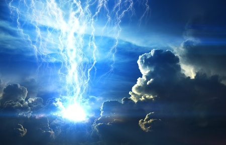 electric storm: background Stock Photo