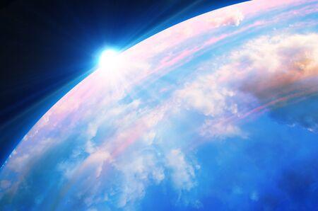 orbital: background Stock Photo