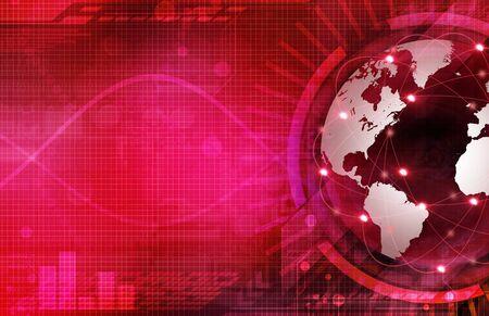 virtual technology: background Stock Photo