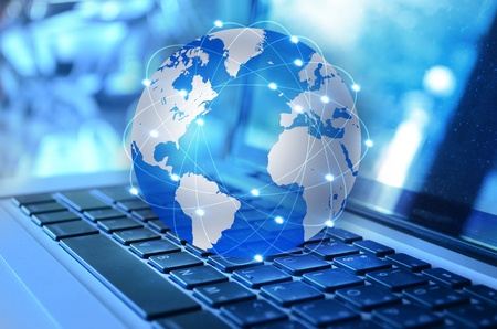 international internet: background Stock Photo