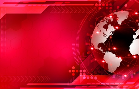 red sphere: background Stock Photo
