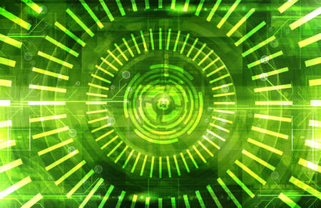 techno background: Abstract dark green technical background Stock Photo