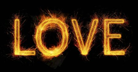 word love: love sparkles Stock Photo