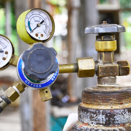 Gas pressure regulator with manometer Stock Photo - 12751670