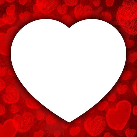 infatuation: white heart  Stock Photo