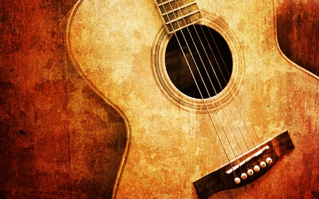 old guitar Stock Photo - 12751758