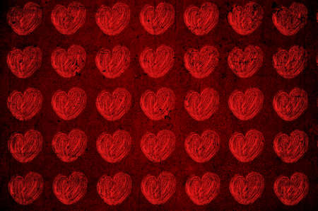 valentine s day background: Red background with hearts