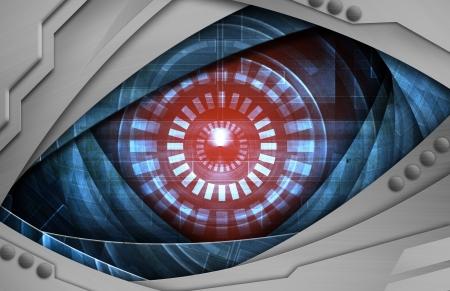 spying: robot eye  Stock Photo